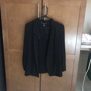 Fitted black blazer, size 2